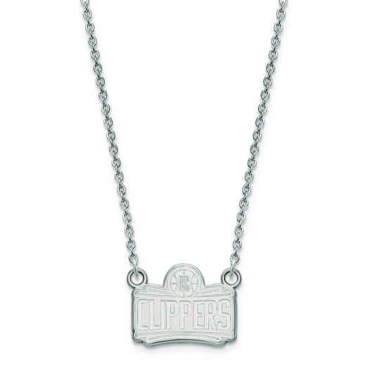 SS026CLI-18: 925 LogoArt Los Angeles Clippers Pendant Neck