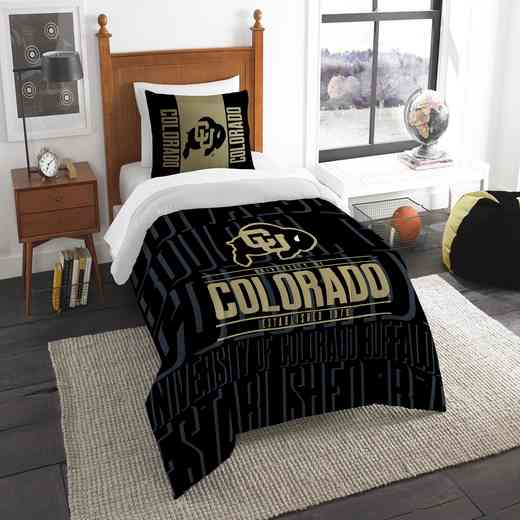 1COL862000085RET: NW NCAA F/Q Comforter Set, Colorado