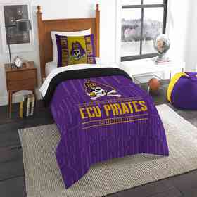 1COL862000060RET: NW NCAA F/Q Comforter Set, East Carolina