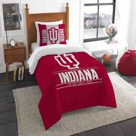 1COL862000026RET: NW NCAA F/Q Comforter Set, Indiana