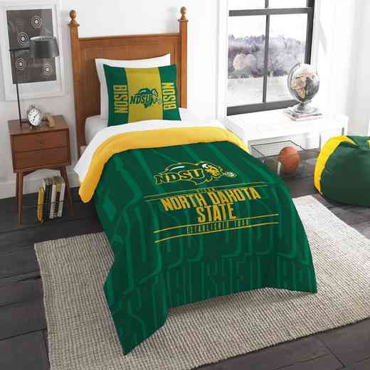 1COL862000098RET: NW NCAA F/Q Comforter Set, North Dakota St