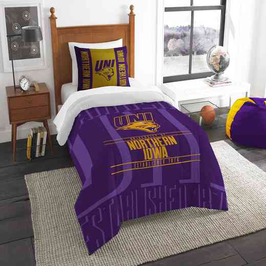1COL862000106RET: NW NCAA F/Q Comforter Set, Northern Iowa