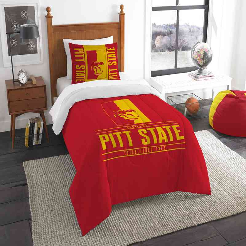 1COL862000111RET: NW NCAA F/Q Comforter Set, Pittsburgh St