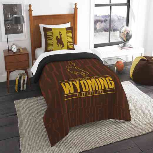 1COL862000066RET: NW NCAA F/Q Comforter Set, Wyoming