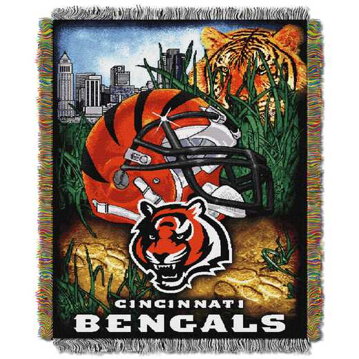 1NFL051010002RET: NW NFL HFA Tapestry Throw, Bengals