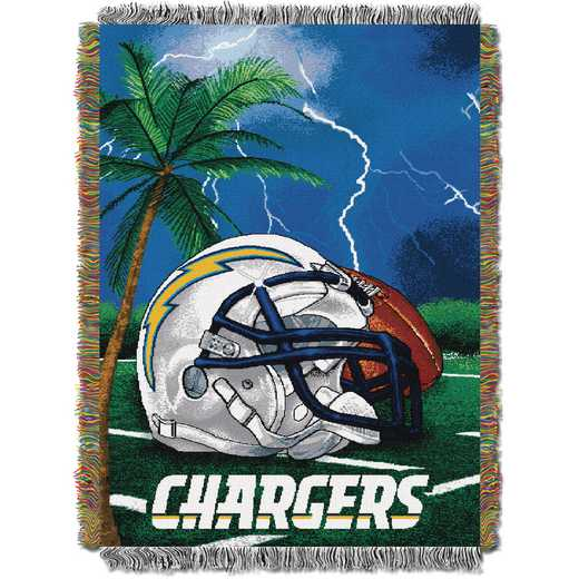 1NFL051010079RET: NW NFL HFA Tapestry Throw, Chargers