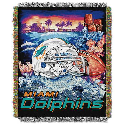 1NFL051010010RET: NW NFL HFA Tapestry Throw, Dolphins