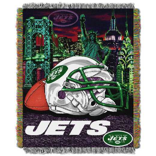 1NFL051010015RET: NW NFL HFA Tapestry Throw, Jets