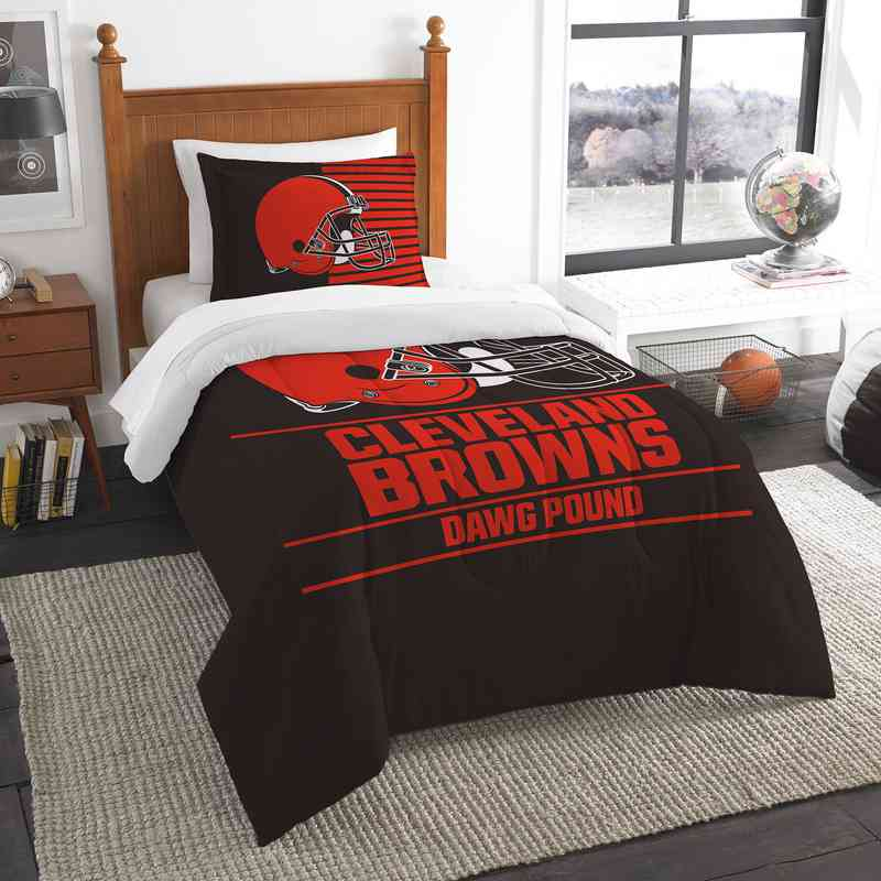 1NFL862000005RET: NW NFL  Anthem Twin Comf Set, Browns
