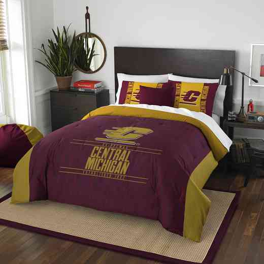 1COL849000103RET: NW NCAA F/Q Comforter Set, Central Michi