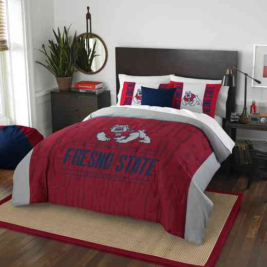 1COL849000048RET: NW NCAA F/Q Comforter Set, Frenso St