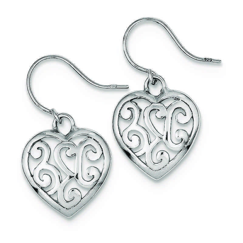 QE8742: 925 Rhodium Plated Shepherd Hook Earrings