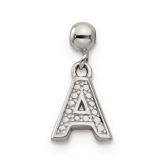 QMM190A: 925 Mio Memento Dangle Letter A Charm