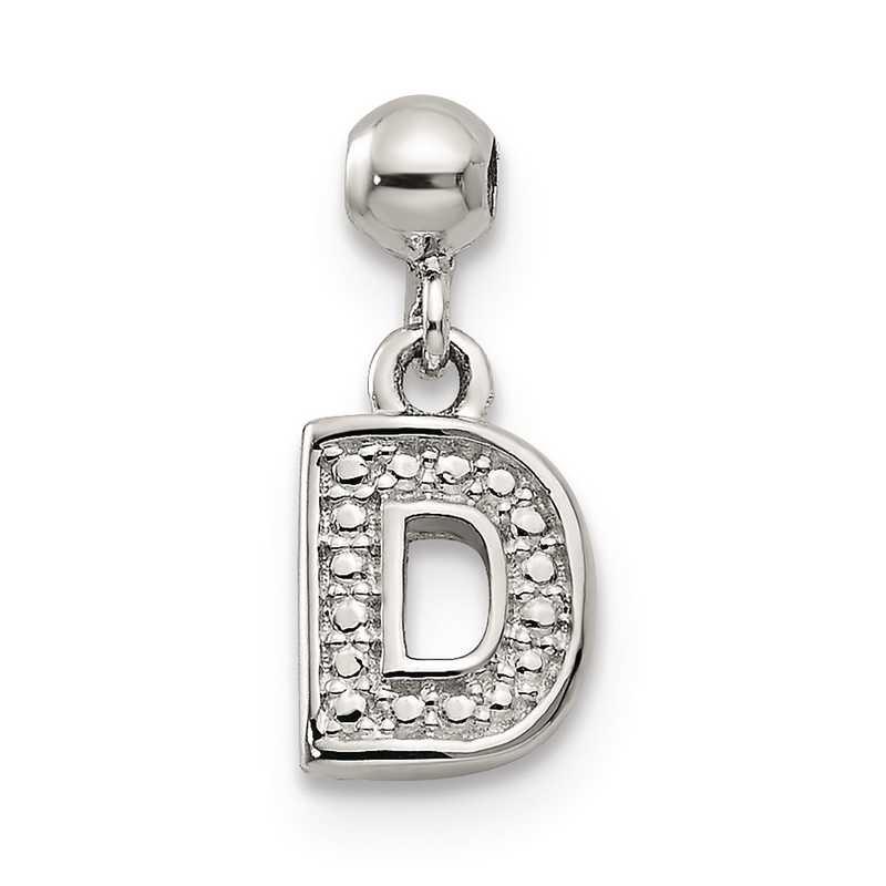 QMM190D: 925 Mio Memento Dangle Letter D Charm