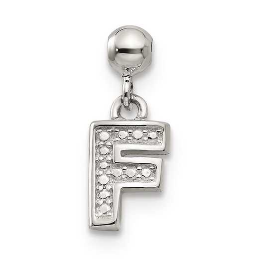 QMM190F: 925 Mio Memento Dangle Letter F Charm