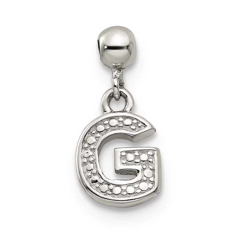 QMM190G: 925 Mio Memento Dangle Letter G Charm