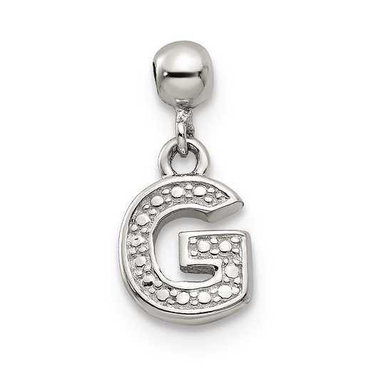 QMM190G: 925 Mio Memento Dangle Letter G Charm