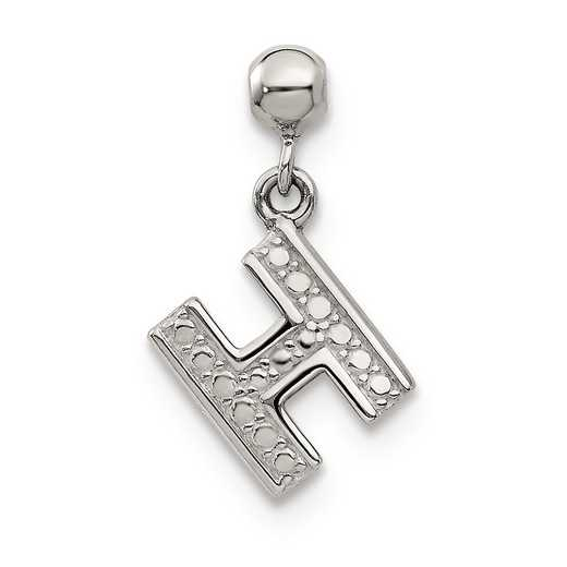 QMM190H: 925 Mio Memento Dangle Letter H Charm