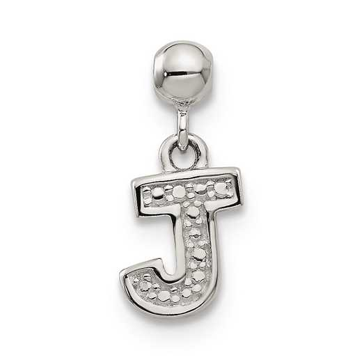 QMM190J: 925 Mio Memento Dangle Letter J Charm