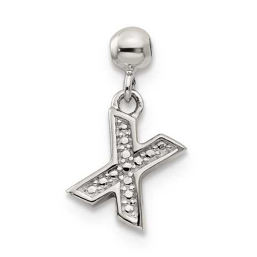 QMM190X: 925 Mio Memento Dangle Letter X Charm