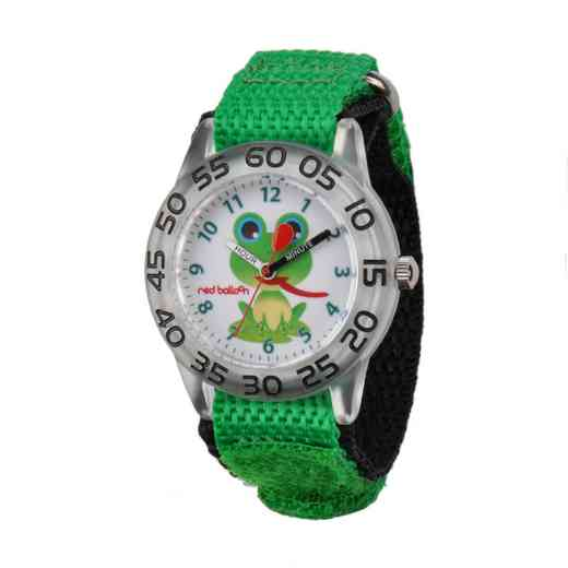 W001474: Red Balloon Boys Plastic Frog Time Teach Watch
