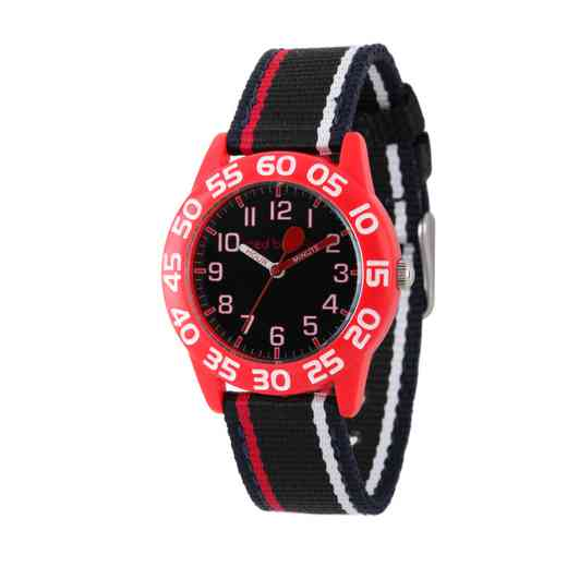 W001890: Red Balloon Boys Red Plastic Time Teach Watch