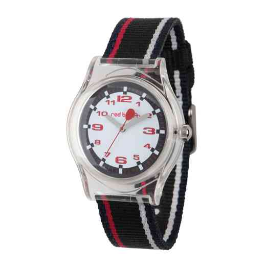 W001892: Red Balloon Boys Sporty Plastic Time Teach Watch
