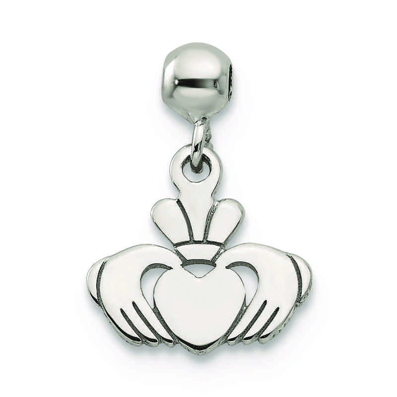 QMM205: 925 Mio Memento Dangle Claddagh Charm