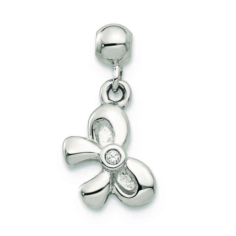 2a0ac068e5e62 Mio Memento Swarovski Crystal Bowtie Charm in Sterling Silver
