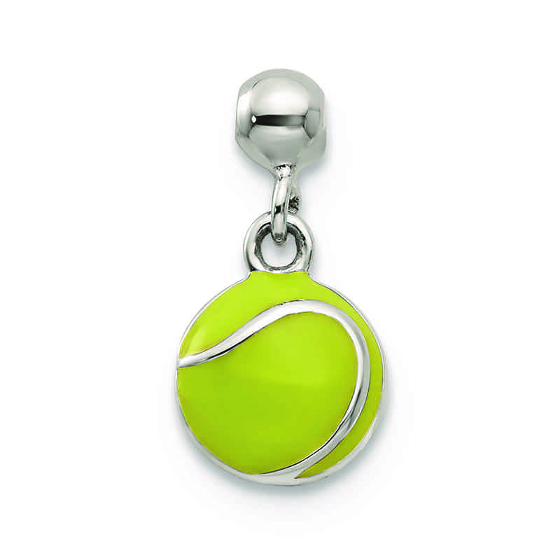 Mio memento enameled tennis ball charm in sterling silver aloadofball Images