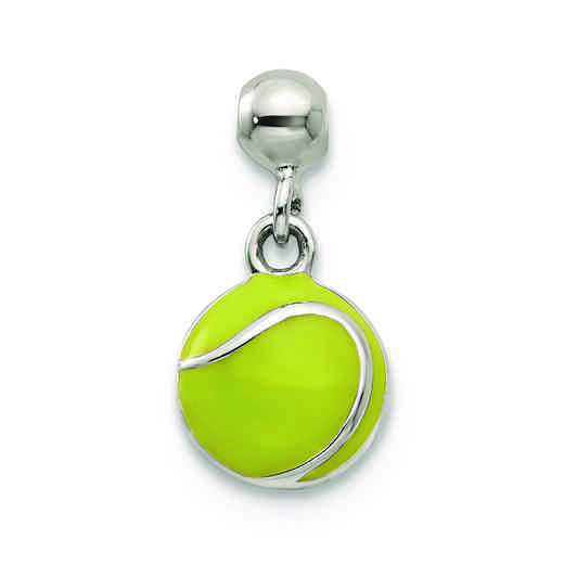 QMM223: 925 Mio Memento Enamel Dangle Tennis Ball Charm