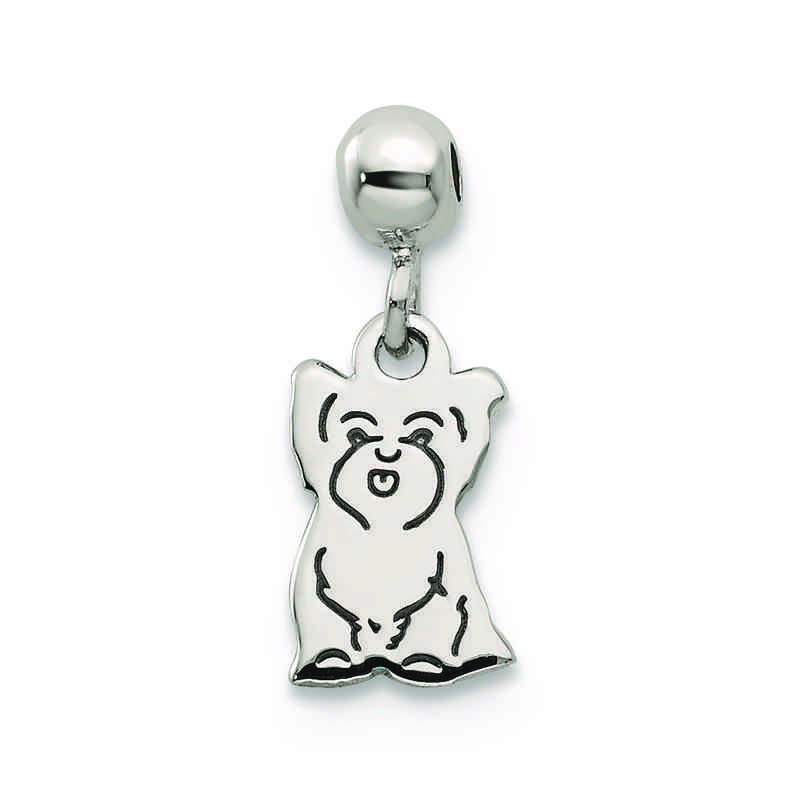 QMM231: 925 Mio Memento Dangle Dog Charm