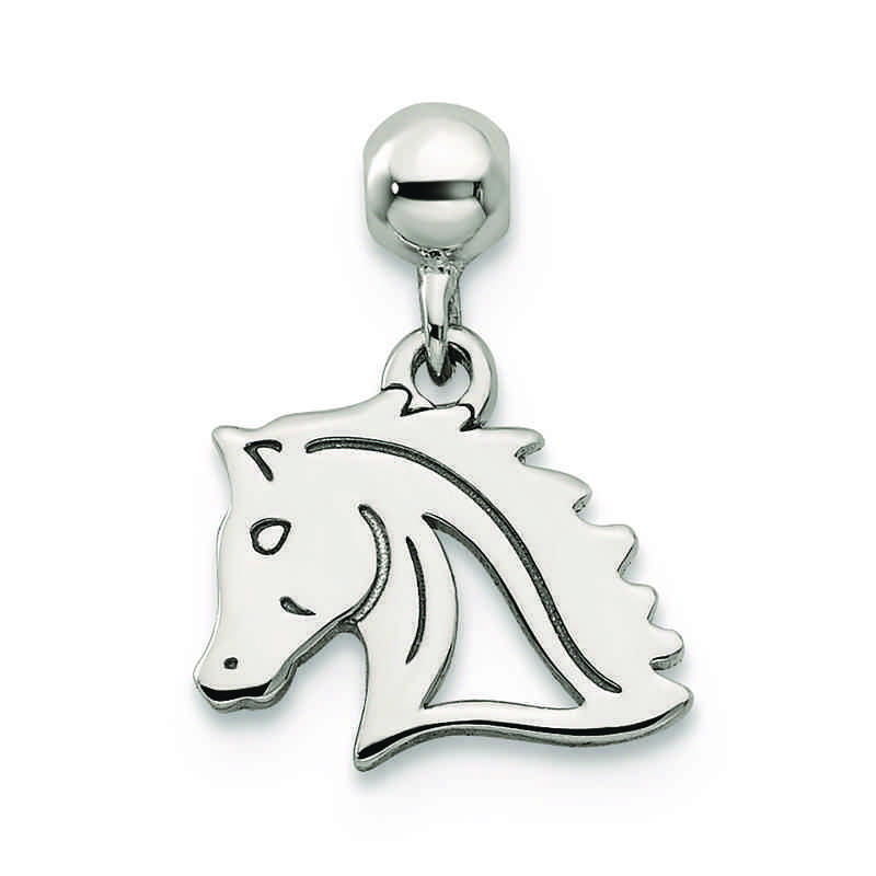 QMM234: 925 Mio Memento Dangle Horse Charm