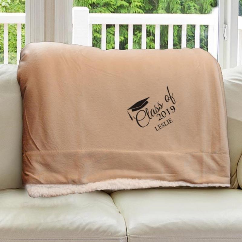 E10805184CM: Camel Fleece  Sherpa Blanket 50 x 60