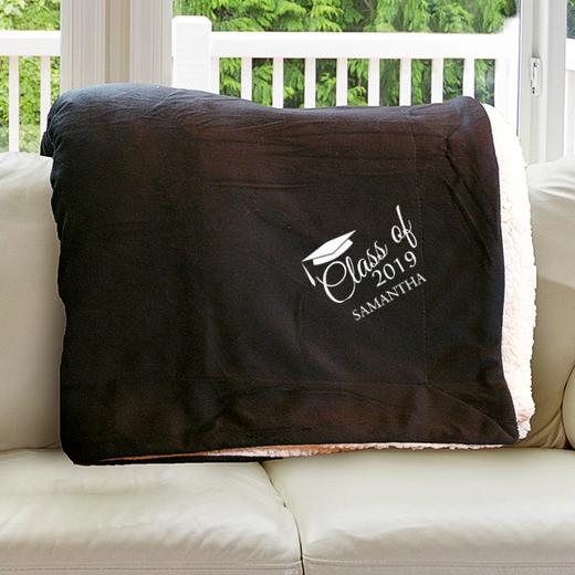 E10805184BK: Black Fleece  Sherpa Blanket 50 x 60