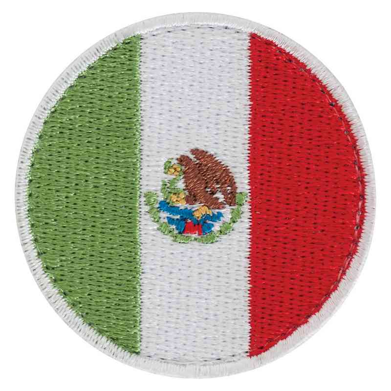 Mexico Circle Flag Id Patch