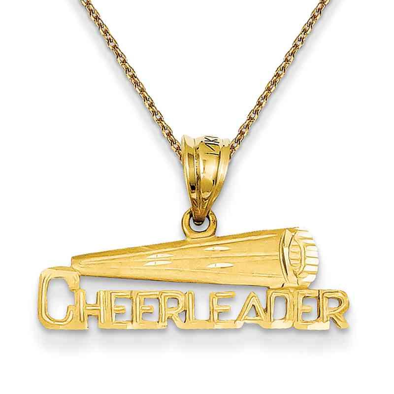 D723PEN136-18: 14k YG Cheerleader Pendant