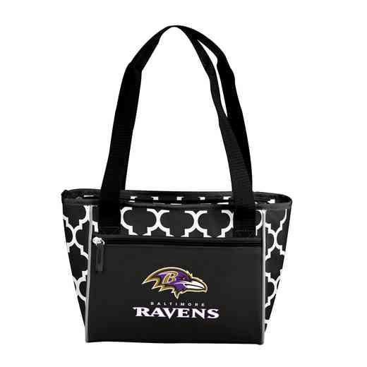 603-83QF: Baltimore Ravens Quatrefoil 16CanClrTote