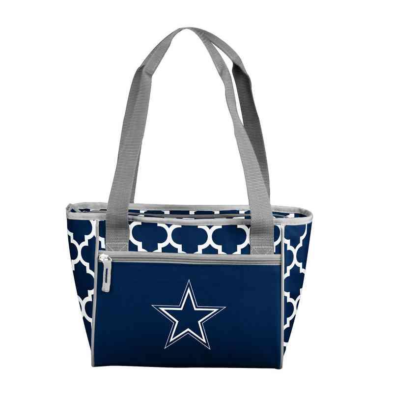 bc071a739 Dallas Cowboys Quatrefoil Designer 16-Can Cooler Tote Bag