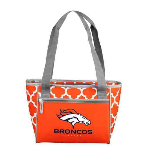 610-83QF: Denver Broncos Quatrefoil 16Can ClrTote