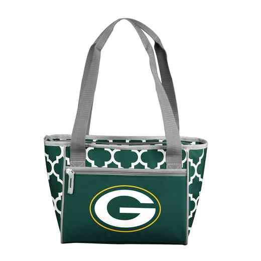 612-83QF: Green Bay PackersQuatrefoil 16CanClrTote