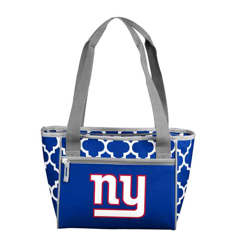 621-83QF: New York Giants Quatrefoil 16Can ClrTote