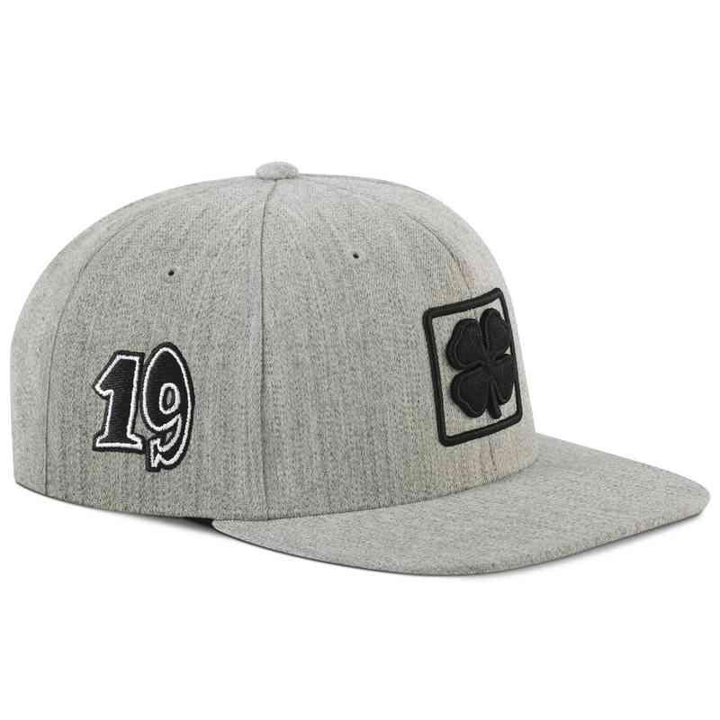 Hat_Black Clover: Light Gray Lucky Square Flat Hat
