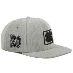K021336: Hat-Black Clover 20 Lucky Square Flat-Adjustable