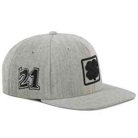 Hat_Black Clover: Light Gray Lucky Square Flat Hat
