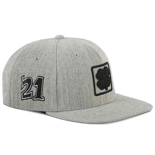 23f8eb3a7ad Hat Black Clover  Light Gray Lucky Square Flat Hat