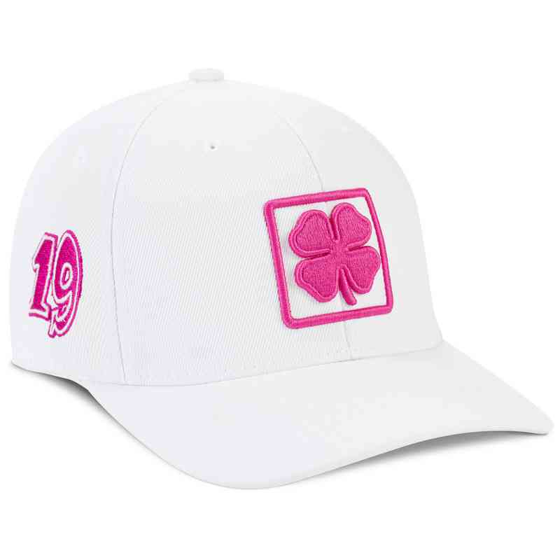 Hat Black Clover  White Pink Lucky Square  6 Snapback Hat f1d9c59d063a