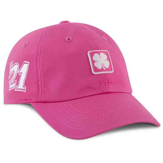 Hat_Black Clover: Pink/White Lucky For U #4 Adjustable Hat