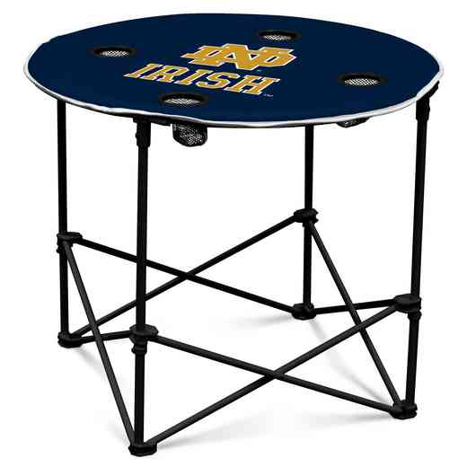 190-31-1: NCAA Notre Dame Navy/White Round Table