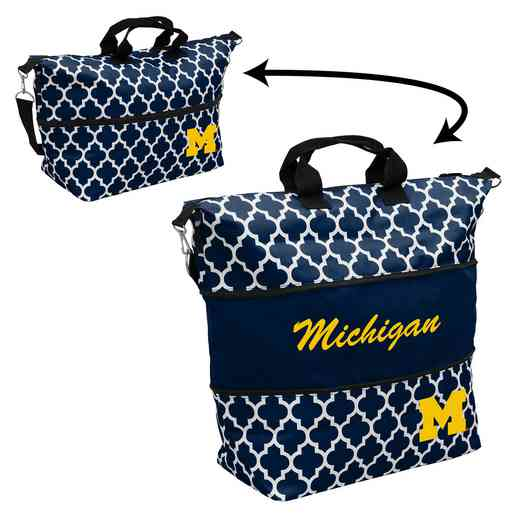 171-665QF: LB Michigan Quatrefoil Expandable Tote